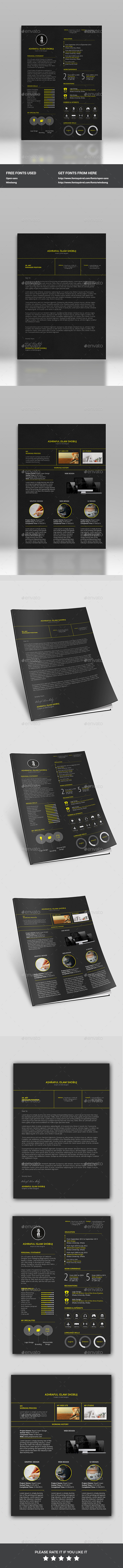 GraphicRiver Resume 11801837