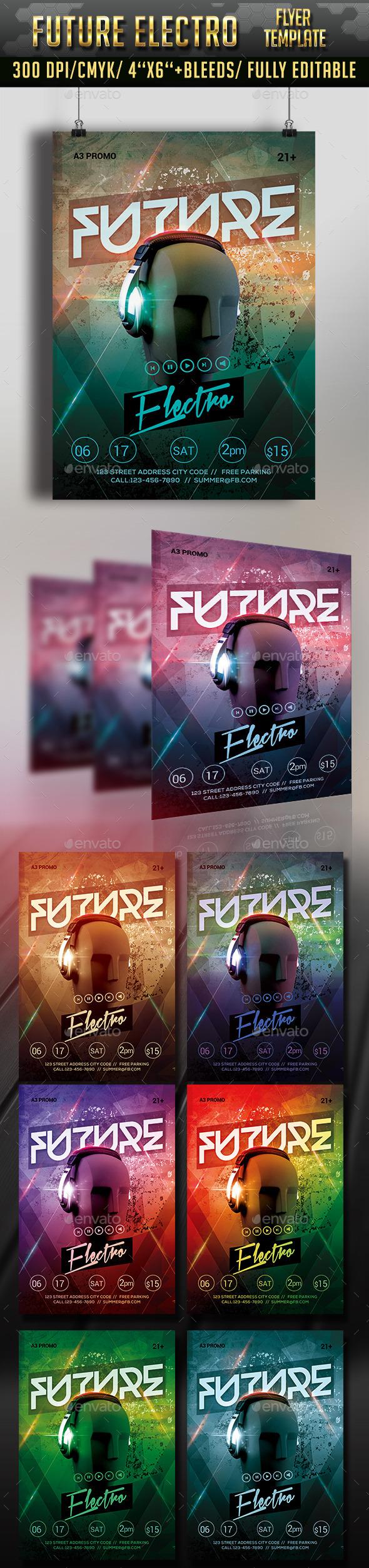GraphicRiver Future Electro Flyer Template 11801909