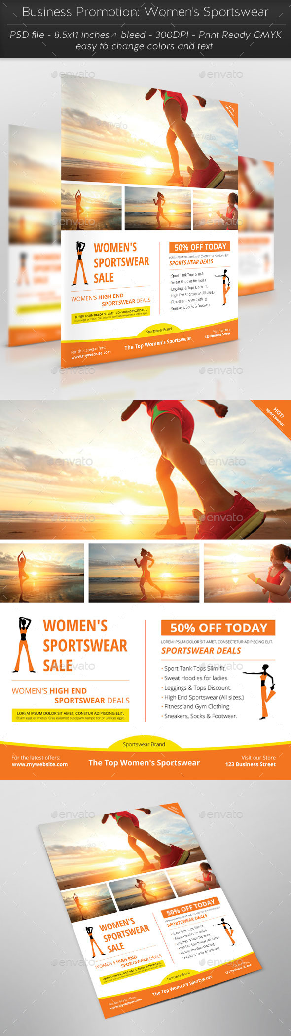 GraphicRiver Business Promotion Women s Sportswear 11802136