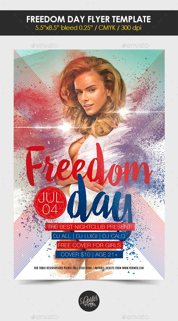 GraphicRiver Freedom Day Flyer 11802426