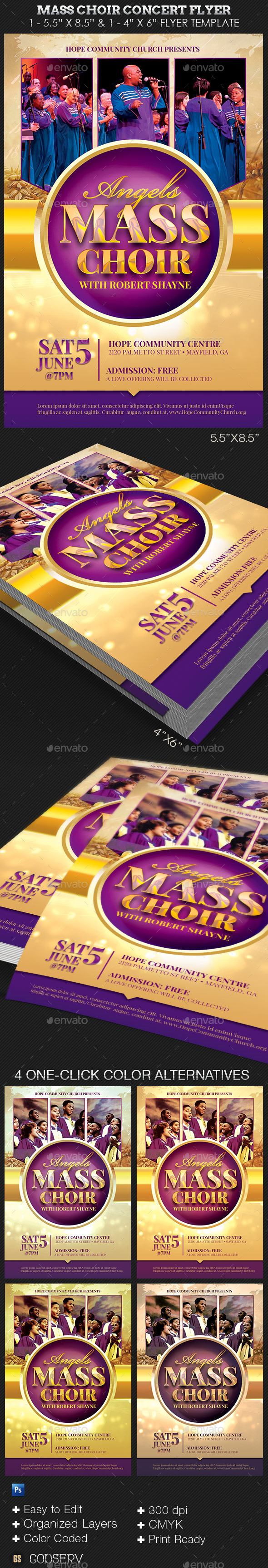 GraphicRiver Mass Choir Concert Flyer Template 11802857