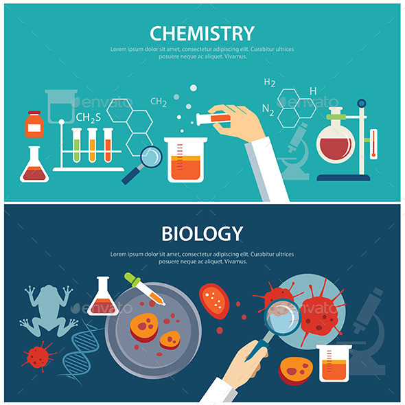 GraphicRiver Chemistry and Biology Education Concept 11802942