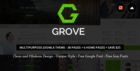 Grove - Responsive Multi-Purpose  Joomla Theme
