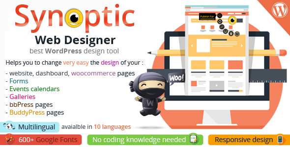 Synoptic Web Designer: best WordPress design tool
