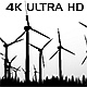 Wind Energy Turbines Silhouettes - VideoHive Item for Sale