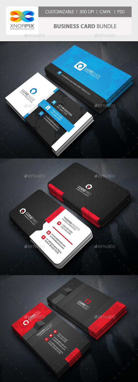 GraphicRiver Business Card Bundle 3 in 1-Vol 54 11803465