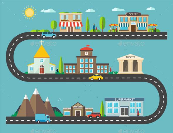 GraphicRiver Urban Landscape in Flat Design 11803680