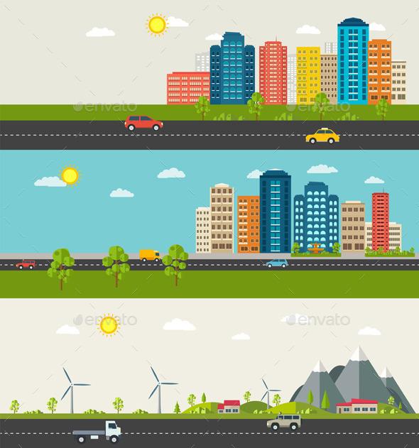 GraphicRiver Urban and Suburban Landscape 11803777