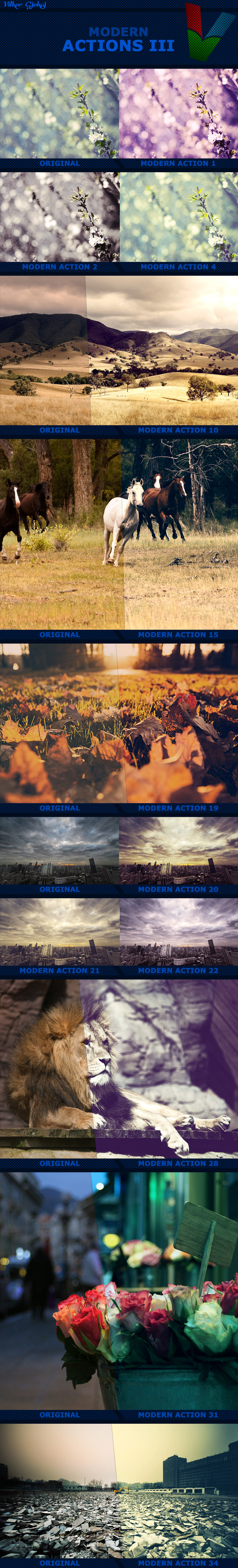 GraphicRiver Modern Photoshop Actions III 11804456