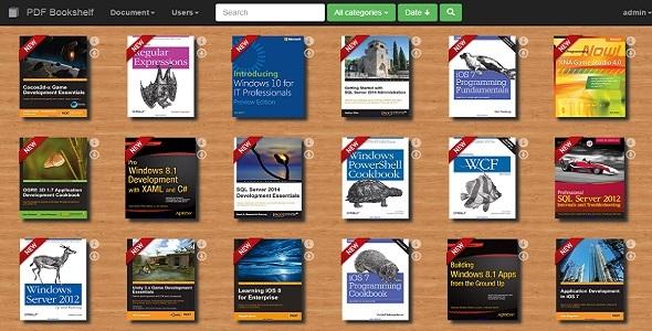 CodeCanyon PDF Bookshelf A responsive MVC bookshelf app 11687619