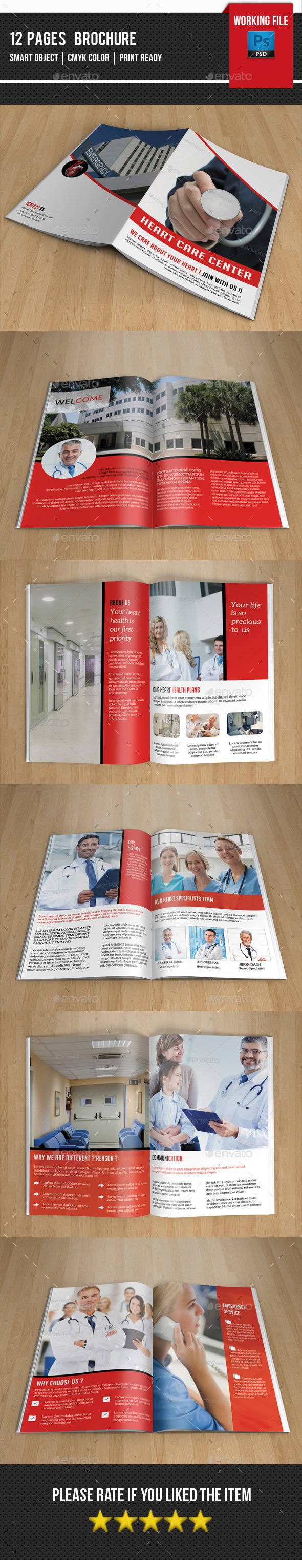 GraphicRiver Heart Care Center Brochure-V260 11804476