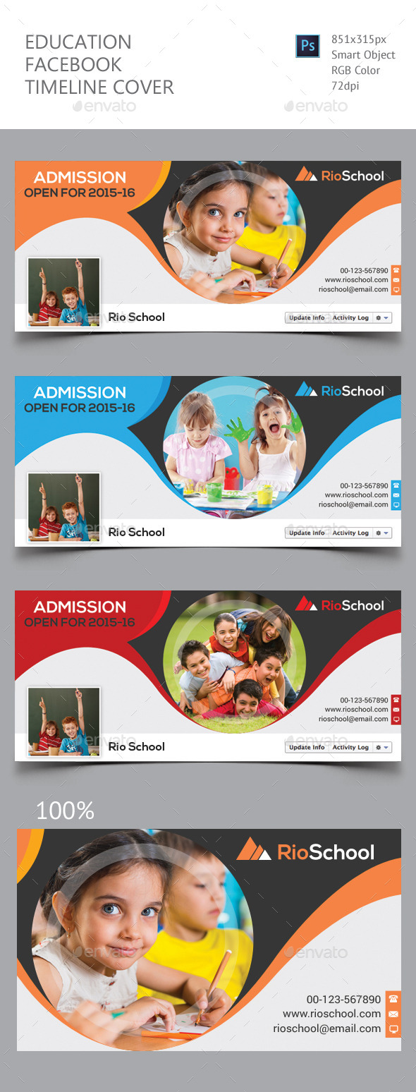GraphicRiver Education Facebook Timeline Cover 11805638