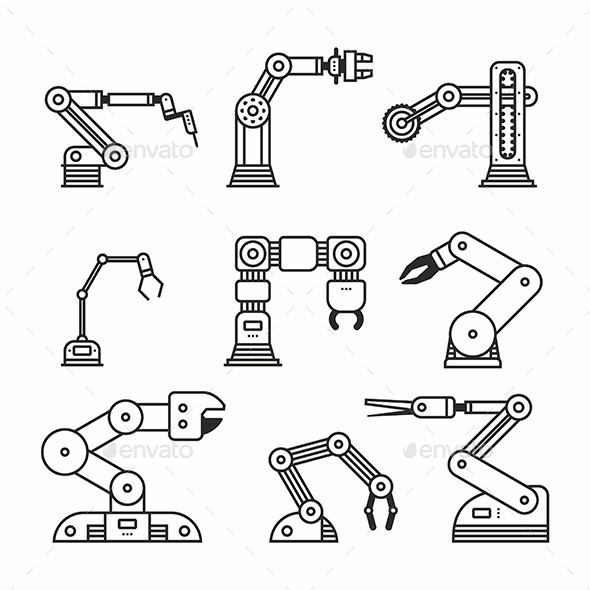 GraphicRiver Industrial Robot Arm 11805963