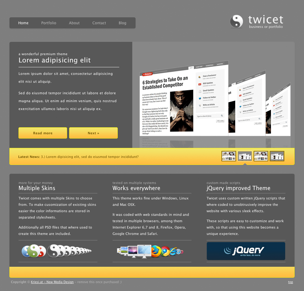 Twicet Business & Portfolio Template - 5 in 1