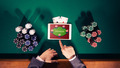 Poker player with digital tablet - PhotoDune Item for Sale