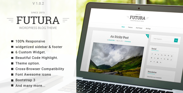 ThemeForest Futura Responsive Minimal Blog Theme 11600488
