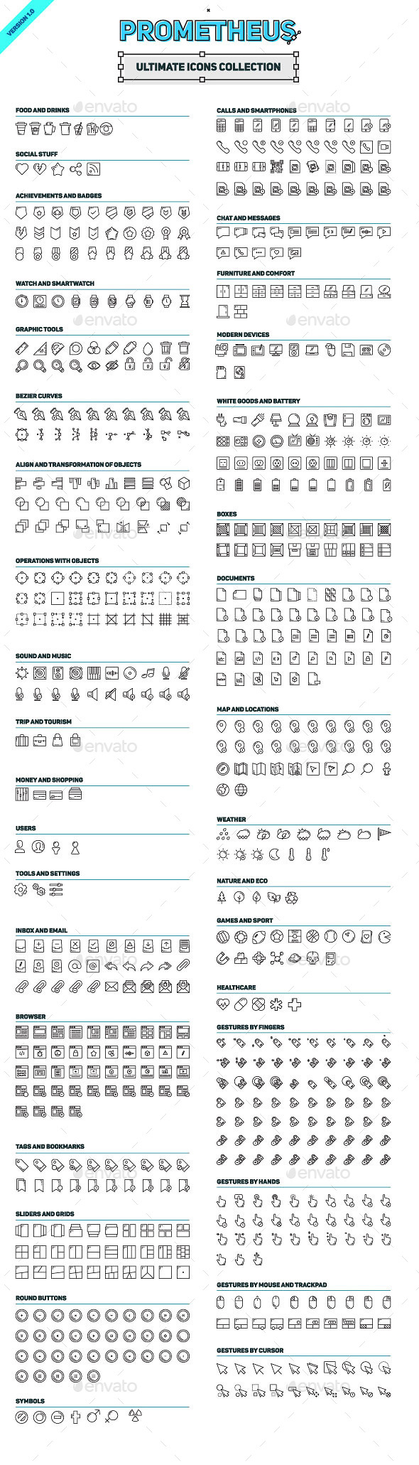 GraphicRiver Prometheus Ultimate Icons Collection 11808006