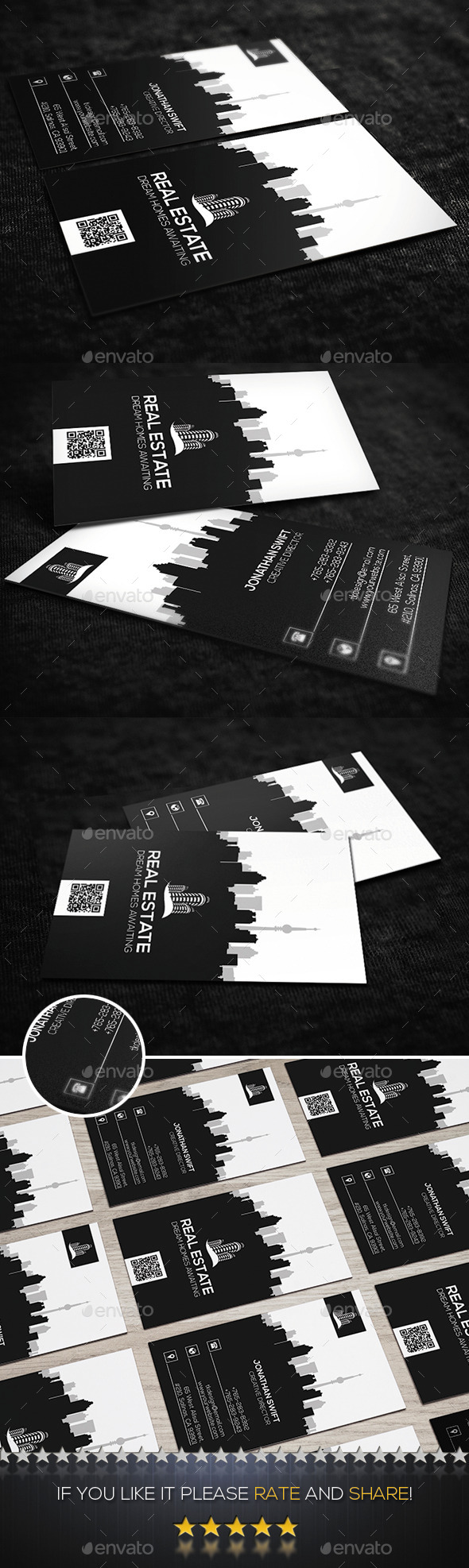 GraphicRiver Vertical Real Estate Business Card 11808009