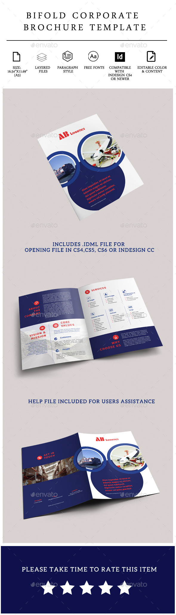 GraphicRiver Corporate Bi-Fold Brochure 11710778