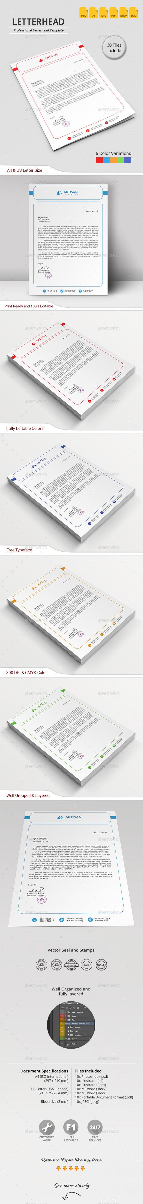 GraphicRiver Letterhead 11808351