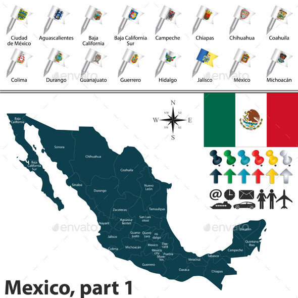 GraphicRiver Map of Mexico 11808394
