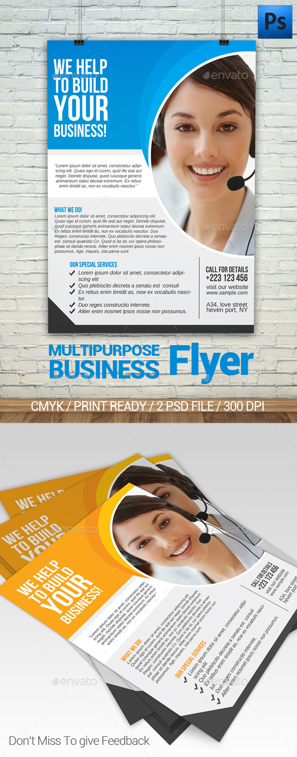 GraphicRiver Multipurpose Business Flyer 11808834