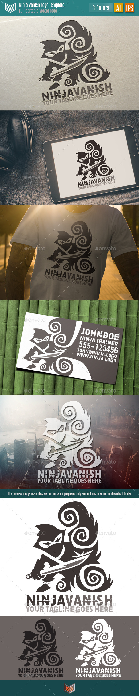 GraphicRiver Ninja Vanish Logo 11808841