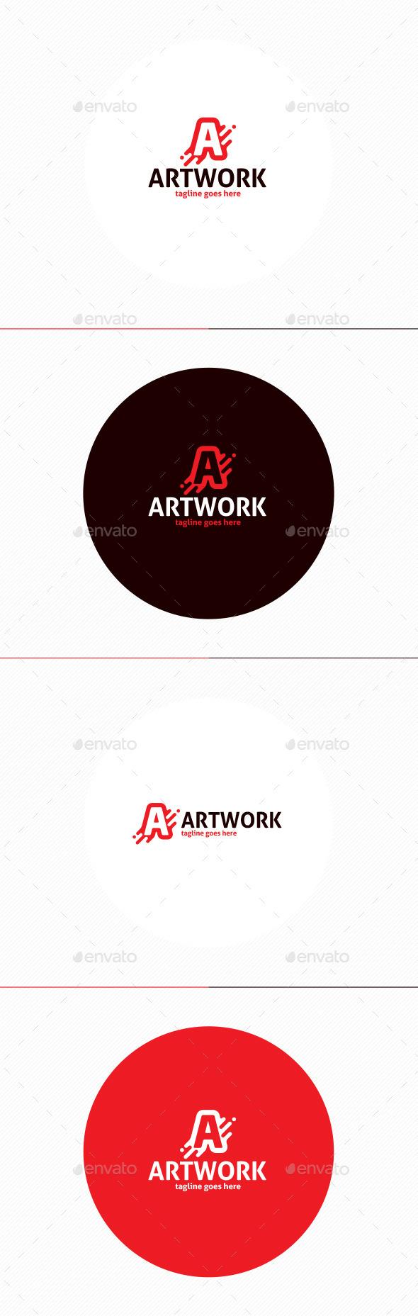 GraphicRiver Art Work Logo Letter A 11808966