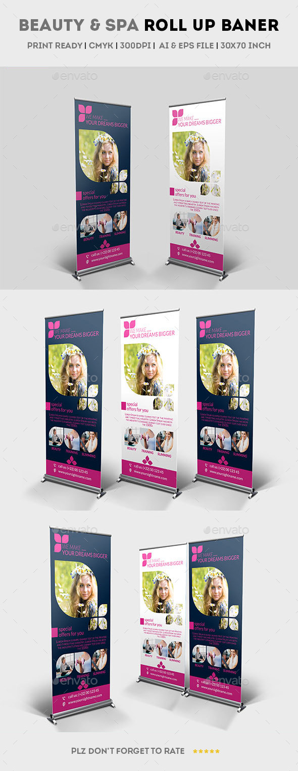 GraphicRiver Beauty & Spa Roll up Banner 11809635