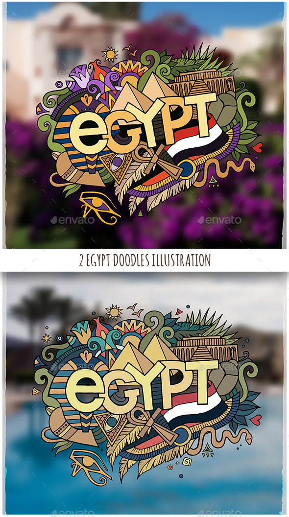 GraphicRiver Egypt Doodles Illustrations 11809639