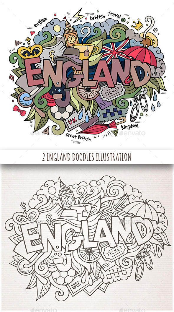 GraphicRiver England Doodles Designs 11809710