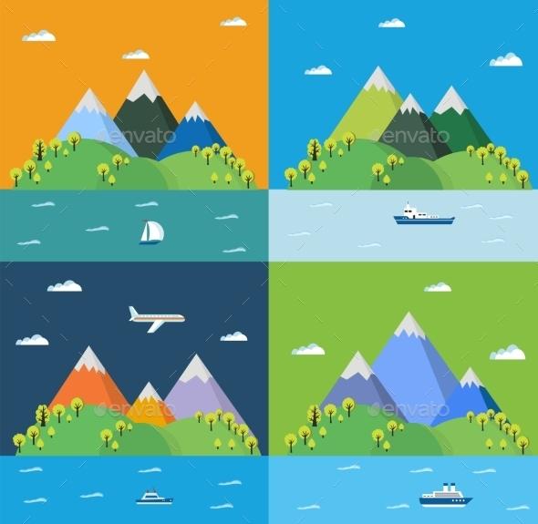 GraphicRiver Set Landscape 11809756