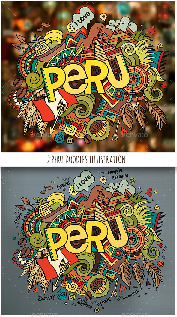 GraphicRiver 2 Peru Doodles Illustrations 11809757