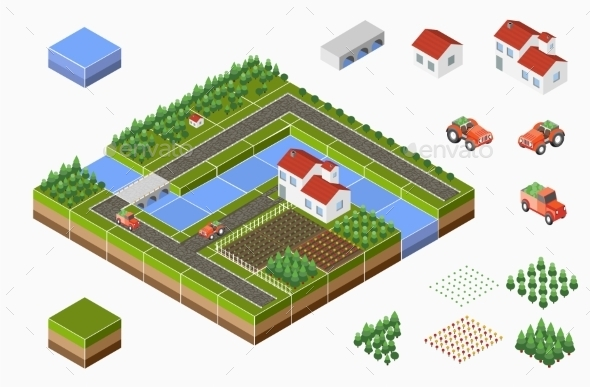 GraphicRiver Isometric Landscape 11809826
