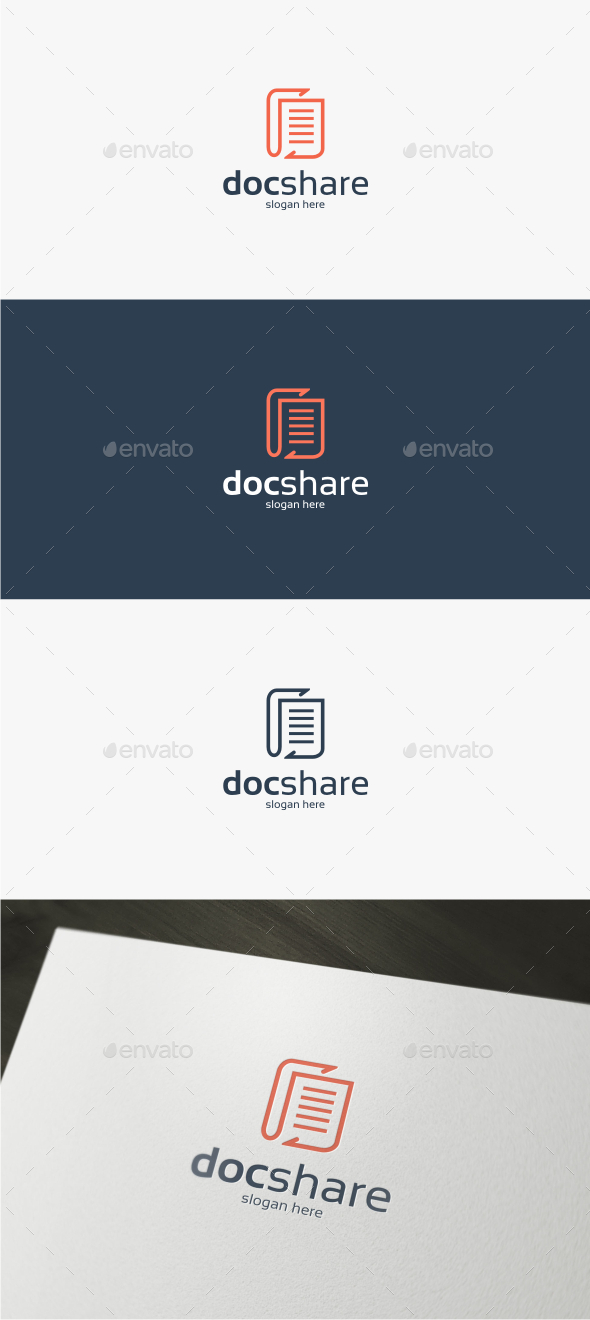 GraphicRiver Doc Share Logo Template 11809852