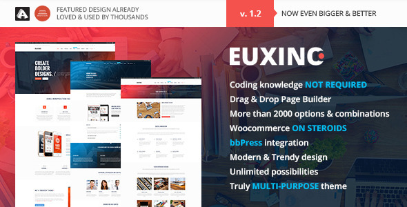 ThemeForest Euxino Advanced Multi-Purpose WordPress Theme 11453604