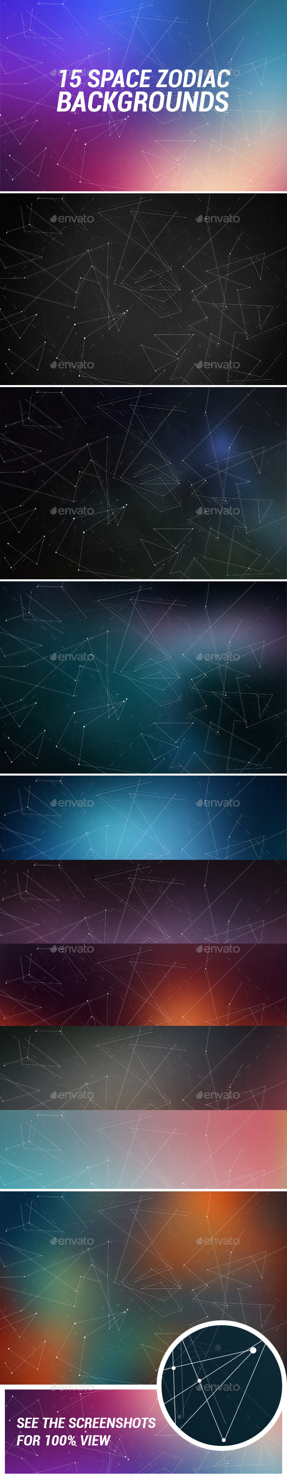 GraphicRiver 15 Space Zodiac Backgrounds 11810062