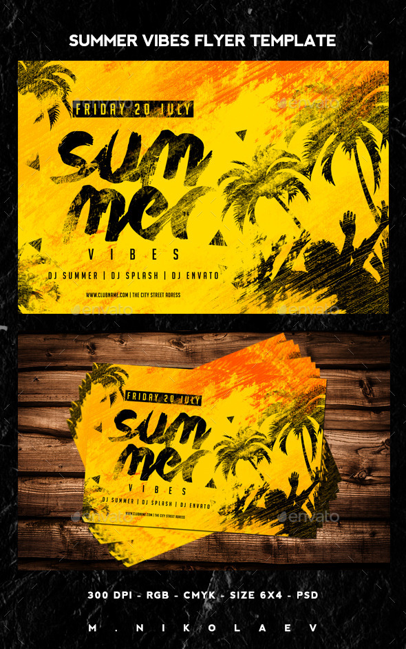 GraphicRiver Summer Vibes Flyer 11810182