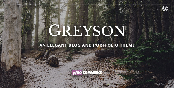 ThemeForest Greyson Responsive Blog & Portfolio Theme 11466092