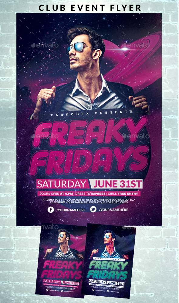 GraphicRiver Club Event Flyer 11810339