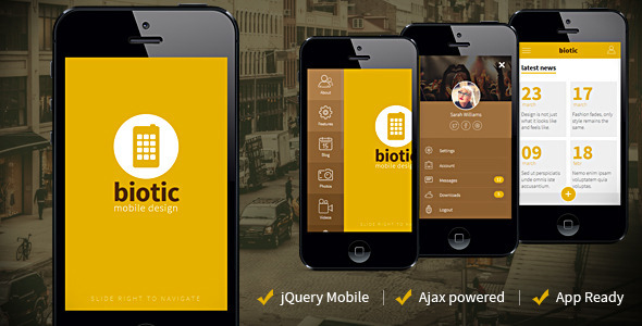 ThemeForest Biotic Mobile and Tablet Creative Template 11810503