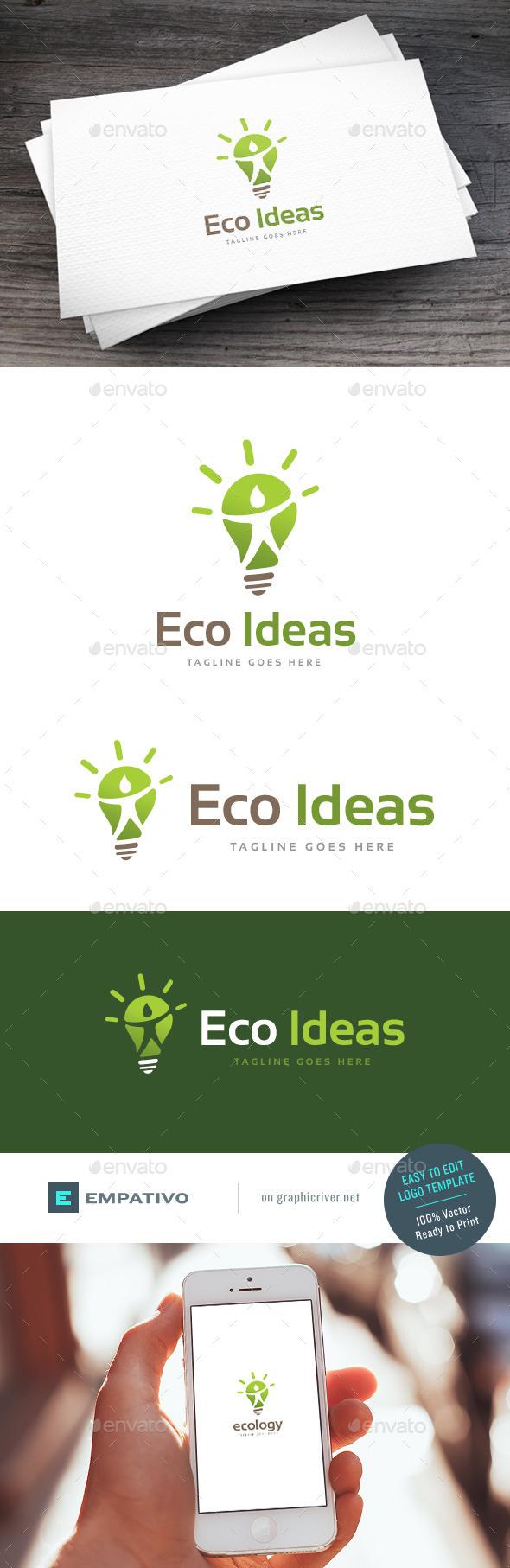 GraphicRiver Eco Ideas Logo Template 11810580