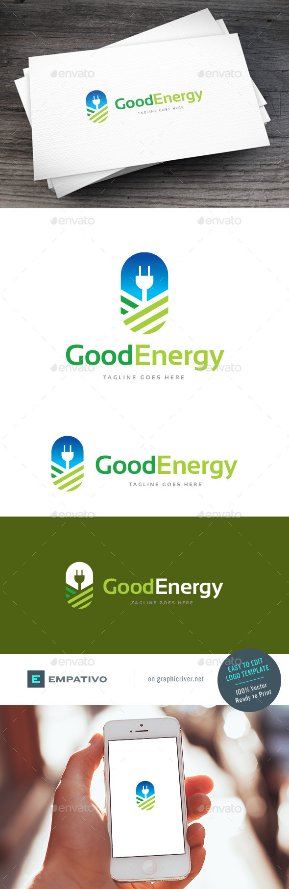 GraphicRiver Good Energy Logo Template 11810587