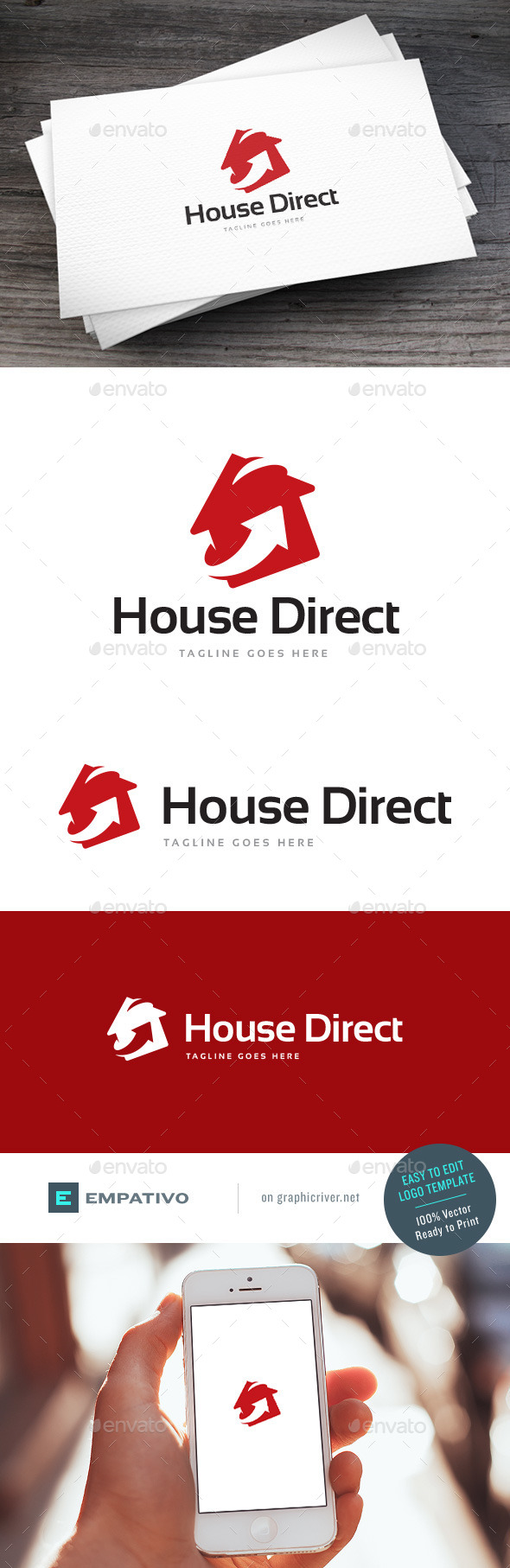 GraphicRiver House Direct Logo Template 11810672