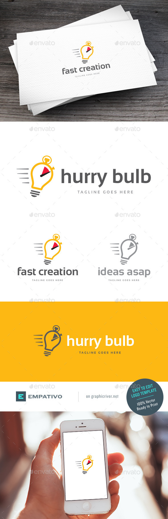 GraphicRiver Hurry Bulb Logo Template 11810713