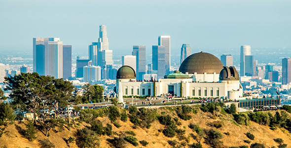 Griffith Observatory CA During Golden Hour