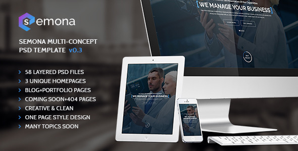 ThemeForest Semona Multi-Concept PSD Template 11650826