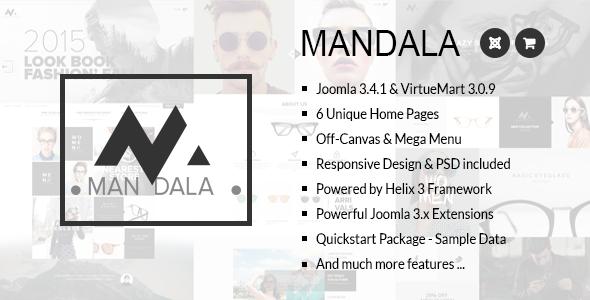 ThemeForest Mandala Responsive Joomla & VirtueMart Template 11732116