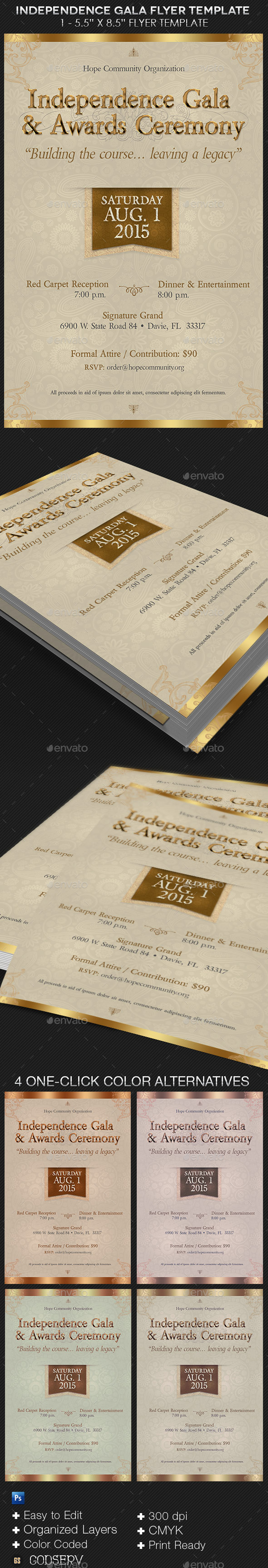 GraphicRiver Independence Gala Flyer Template 11811935