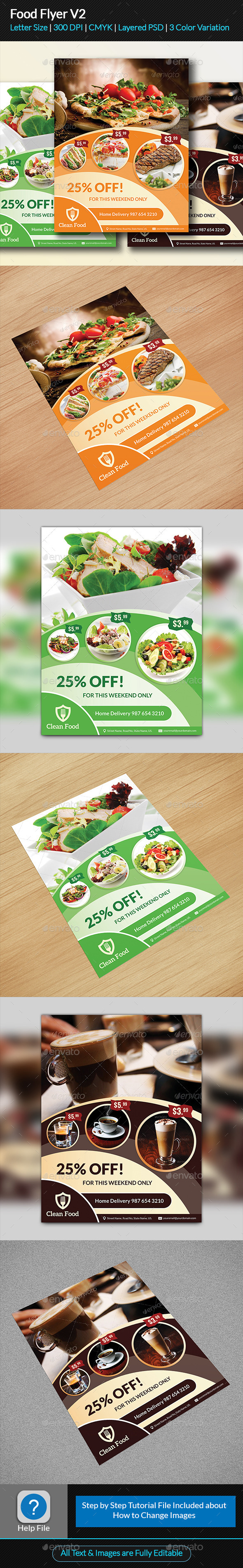 GraphicRiver Food Flyer V2 11811938